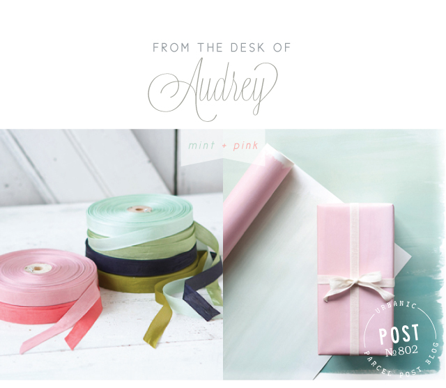 mint+pink on Parcel Post